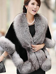 Women Faux Fur Scarf,Casual TriangleSolid