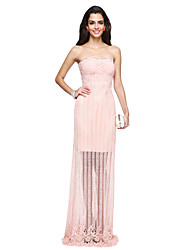 2017 TS Couture® Formal Evening Dress - See Through Sheath / Column Strapless Floor-length Lace with Lace