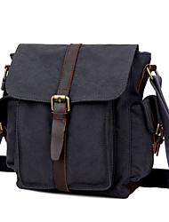New Men Canvas Leather Casual Messenger Shoulder Bag Tablet PC Bag