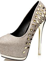 Damen-High Heels-Kleid / Lässig / Party & Festivität-Kunststoff-Stöckelabsatz-Gladiator-Silber / Gold