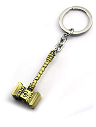 Inspired by Super Hero Anime Cosplay Accessories Keychain Golden / Silver Alloy