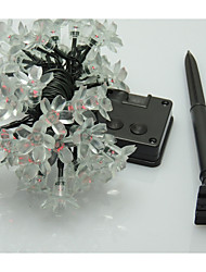 20 led solaire fleur de pêcher lumières de Noël string