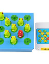 Jogo de Tabuleiro / Brinquedo Educativo Hobbies de Lazer Brinquedos Sapo Plástico Ciano / Azul Para Meninos / Para Meninas