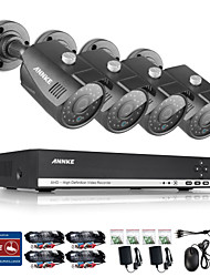ANNKE® 4CH HDMI DVR 1080N HD Video 1.0MP Night Vision IR Security Camera System