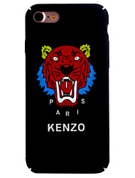 For Apple iPhone 7 7Plus 6S 6Plus Case Cover Smooth Oil Surface PC Material Roar Tiger Head Design Luminous Hard Phone Case