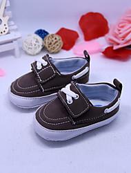 Jungen Baby-Sneaker-Lässig-Mikrofaser-Flacher Absatz-Komfort-Schwarz Kaffee