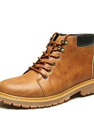 Men's Boots /Martens Boots / Work&Safe / Comfort  Casual Flat Heel Lace-up Black / Brown