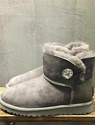 Women's Boots Winter Comfort Fur Casual Black / Brown / Dark Gray