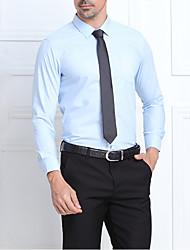 Men's Casual/Daily / Formal / Work Simple Fall Shirt,Solid Shirt Collar Long Sleeve Blue / White / Green / Purple Rayon / Modal Medium