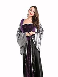 Königin Fest/Feiertage Halloween Kostüme Schwarz einfarbig Kleid Halloween / Weihnachten / Karneval / Silvester / Oktoberfest / Kindertag