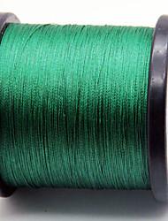 1000m / 1100 Yards Linha Traçada PE / Dyneema Linhas de Pesca Verde Escuro 80LB / 60LB / 100LB / 70LB 0.37mm,0.40mm,0.45mm,050mm mm Para