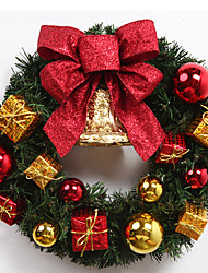 Golden Christmas Bows Gift Bags Bell Wreaths Christmas Decorations 50cm
