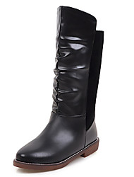 Women's Fall / Winter / Fashion Boots/Round Toe/Low Heel/Office & Career/ Dress /Casual/Ruffles