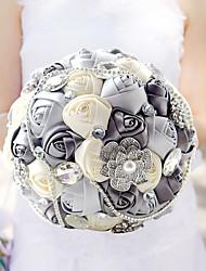 Fleurs de mariage Rond Roses Bouquets Cérémonie de mariage La Fête / soirée CélébrationPolyester Satin Taffetas Dentelle Elasthanne Perle
