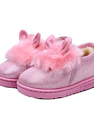 Girl's Loafers & Slip-Ons Winter Comfort Fur Casual Black / Pink / Red