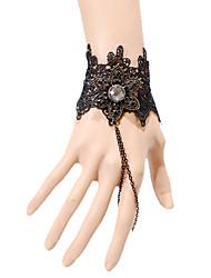Jóias Lolita Clássica e Tradicional Bracelete/Pulseira Inspiração Vintage / Princesa Preto Lolita Acessórios Bracelete/PulseiraLaço /