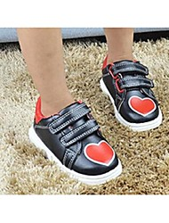Girl's Sneakers Comfort Leatherette Casual Black White