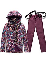 Tenue de Ski Anorak pour Ski/snowboard Femme Tenue d'Hiver Polyester Floral / Botanique Vêtement d'HiverEtanche / Respirable / Garder au