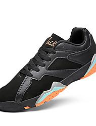 Femme-Sport-Noir / Blanc / Noir et blanc-Talon Plat-Confort-Chaussures d'Athlétisme-Polyuréthane
