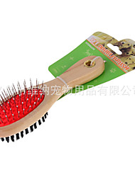 Cat / Dog Cleaning Brush Pet Grooming Supplies Soft Red Wood
