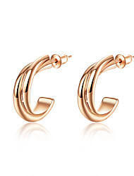 Women Fashion K Gold Rose Gold Alloy Earrings Wedding Party Daily Casual Occasion(1 pair)
