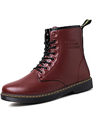 Men's Popular Boots Comfort Leather Outdoor/Casual Walking High Top Youth Combat Boot
