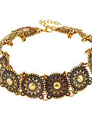 Boho Collar Choker statement Necklace Women Fashion Vintage Ethnic style Bohemia Silver Metal Jewelry