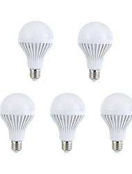 9W E26/E27 Ampoules Globe LED A60(A19) 15 SMD 5630 330-360 lm Blanc Chaud / Blanc Naturel Décorative AC 100-240 V 5 pièces