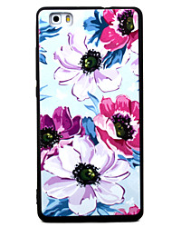 For Huawei P8 P9 P8Lite P9Lite Y5 II Honor5A Honor8 Mate7 Four Flowers Pattern TPU Material Painted Relief Phone Case