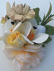 Fleurs de mariage Roses Lis Boutonnières Mariage La Fête / soirée Satin