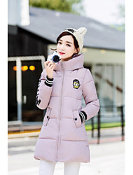 Sign 2016 winter new Korean version of the new long section hooded down padded patch thick coat female students