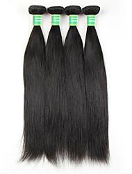 7A Brazilian Virgin Hair Straight Human Hair Weave 4 Bundles Straight Virgin Hair Brazilian Straight Weaves