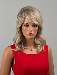 beauté sexy mi-longueur capless perruques onde naturelle perruques ombre de cheveux humains