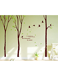 1 Set of Botanical Wall Stickers Plane Wall Stickers Decorative Wall StickersPaper Material Removable Home Decoration Wall Decal 3pcs