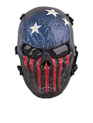 Skelett-Tarnung Maske schützt das gesamte Gesicht