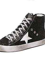 MujerConfort-Zapatillas de deporte-Casual-Ante-Negro / Plata