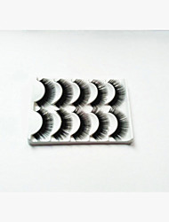 New 5 Pairs Natural Black Super Thick False Eyelashes Soft Eyelash Eye Lashes for Eye Extensions