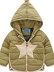 Boy Casual/Daily Solid Down & Cotton Padded,Polyester / Nylon Winter Long Sleeve
