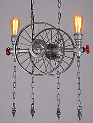 2 Heads Retro Industrial Pendant Lights Simple Loft Metal Dining Room Kitchen Bar Cafe Light Fixture