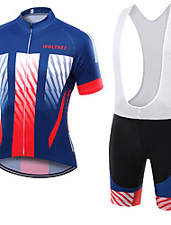 WOLFKEI Summer Cycling Jersey Short Sleeves BIB Shorts Ropa Ciclismo Cycling Clothing Suits #12