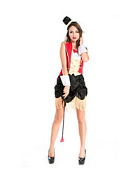 Festival/Holiday Halloween Costumes Red/Black Solid Top / Skirt / Gloves / Hats Halloween / Christmas / Carnival Female