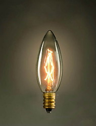 C35 Candle Yellow E14 40W 220V-240V Small Screw Edison Light Bulb