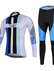 Sportif Maillot et Cuissard Long de Cyclisme Unisexe Manches longues VéloRespirable / Séchage rapide / Design Anatomique / Zip frontal /