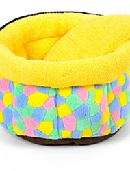 Dog Bed Pet Blankets Yellow Cotton