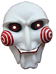 Masque / Pour Halloween Blanc & rouge Résine Accessoires de cosplay Halloween / Carnaval / Nouvel an
