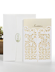 Personalized Double Gate-Fold  Wedding Invitations Invitation Cards-50 Piece/Set Pearl Paper