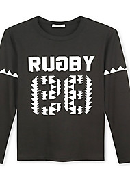 Trenduality® Hommes Col Arrondi Manche Longues T-shirt Noir - 43267