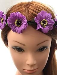 Femme Tissu Plastique Casque-Mariage Occasion spéciale Serre-tête Fleurs Elastique 1 Pièce
