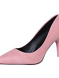 Women's Heels Spring Summer Comfort PU Casual Low Heel Black Pink Red Other