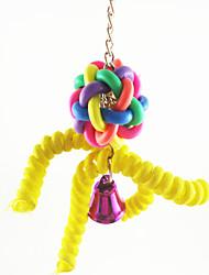 Multi-Color Portable Metal Acrylic Bird Toys 1pc